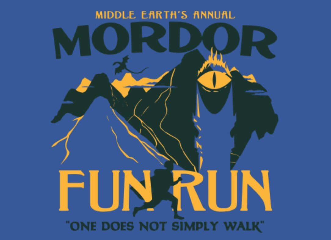 T shirt design on queen city - Queen City Marathon On Twitter For Fans Of Running And Lotr A Brilliant And Hilarious T Shirt One Does Not Simply Walk Into Mordor