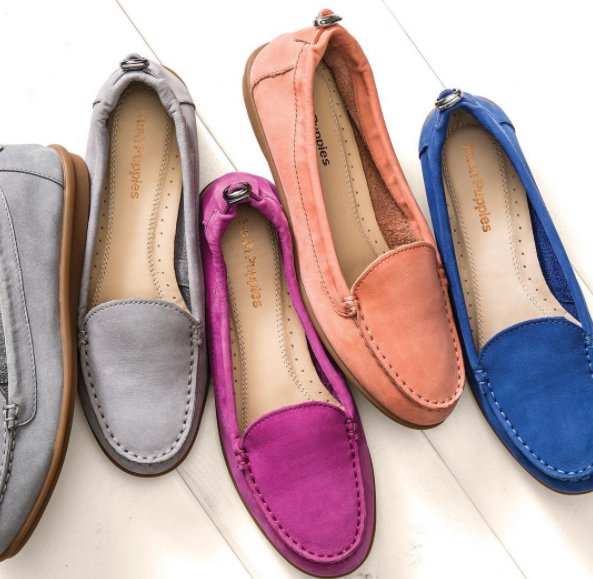 Our favorite moccasins ready in Spring colors!