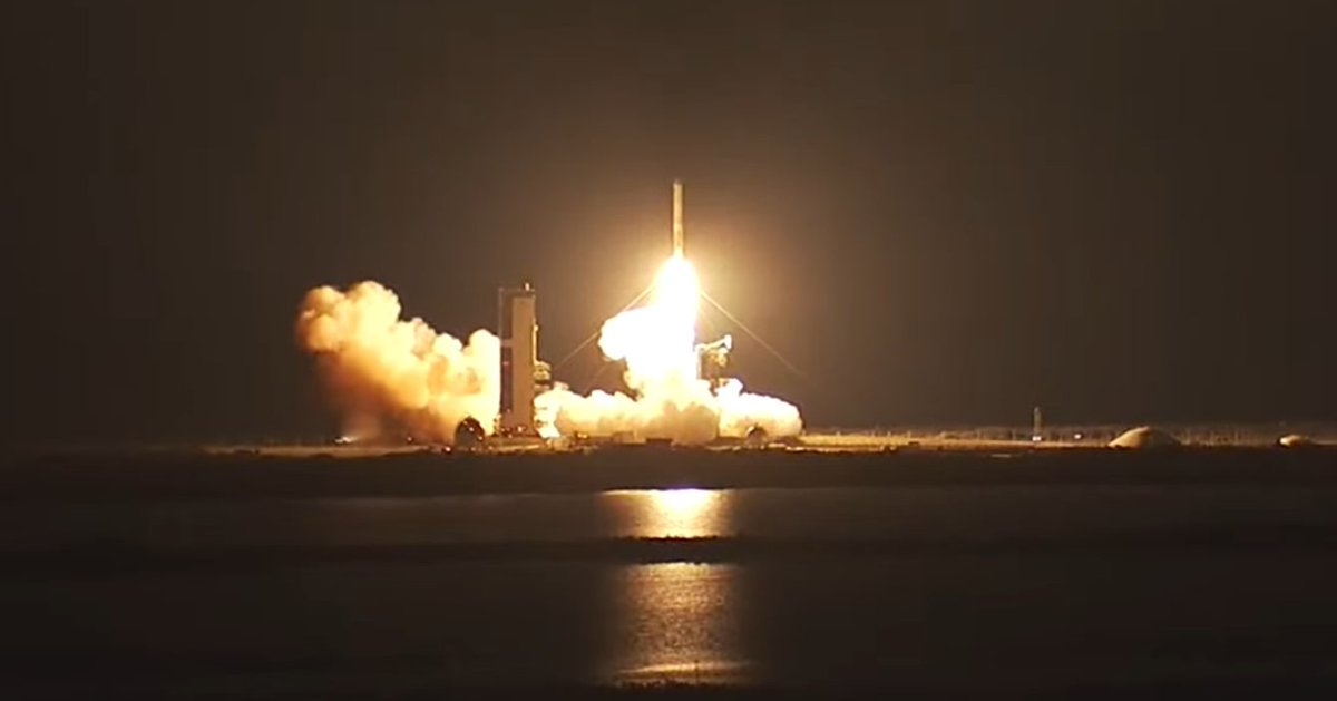 LIFT-OFF (8:18:00 pm EDT) of ULA10 DeltaIV into the night skies over America's Space Coast carrying @USAirForce WGS9 into orbit