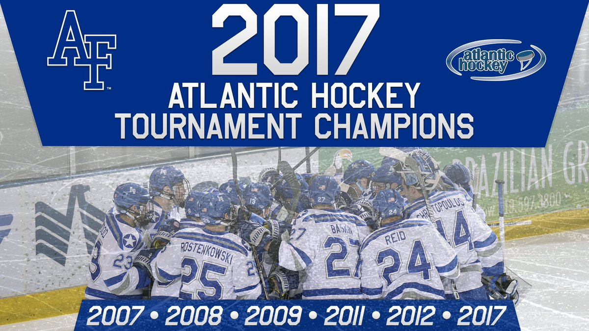 We are the CHAMPIONS! Congratulations to @AF_HKY on winning the 2017 AHC tournament! #LetsFly https://t.co/dCpNZ1cjHo