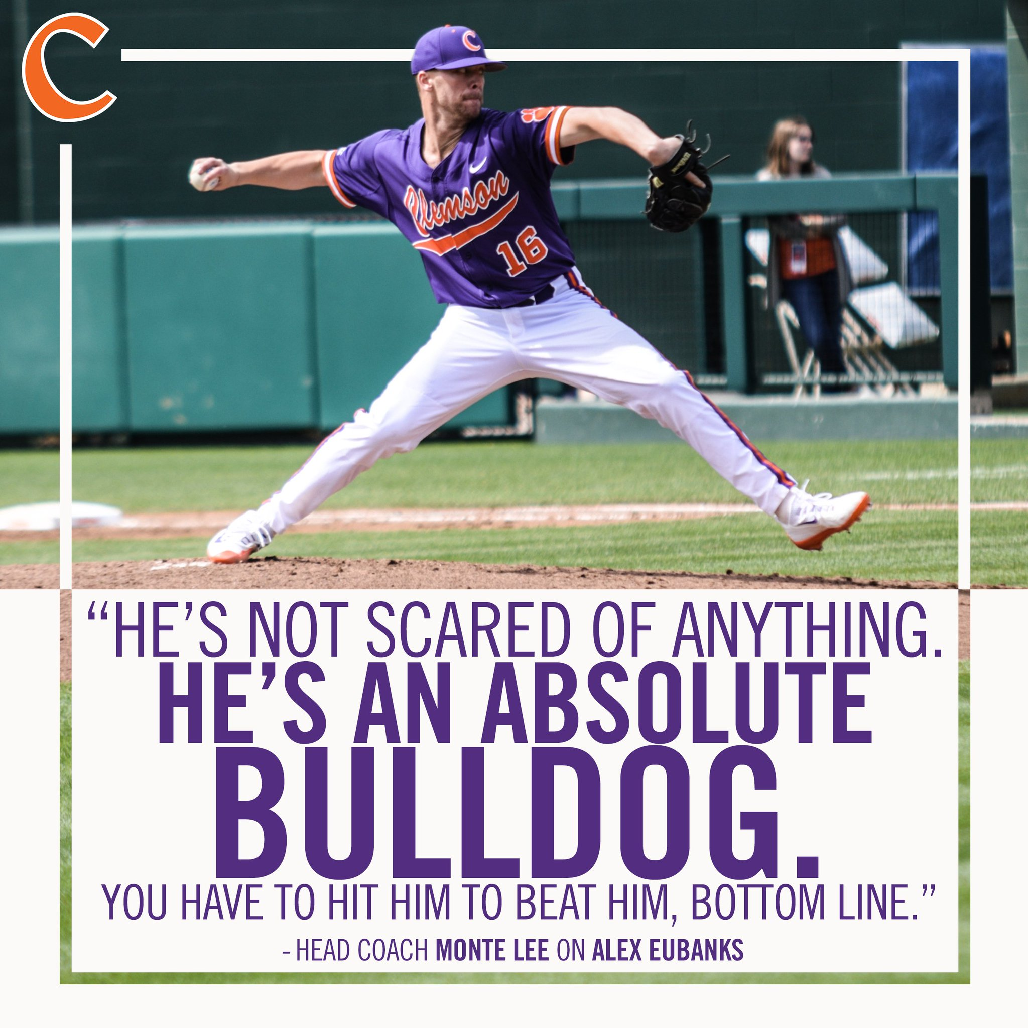.@MonteLeeCU praised Alex Eubanks' competitiveness after the righthander's strong outing against Virginia this afternoon. https://t.co/h49uKyxfc5