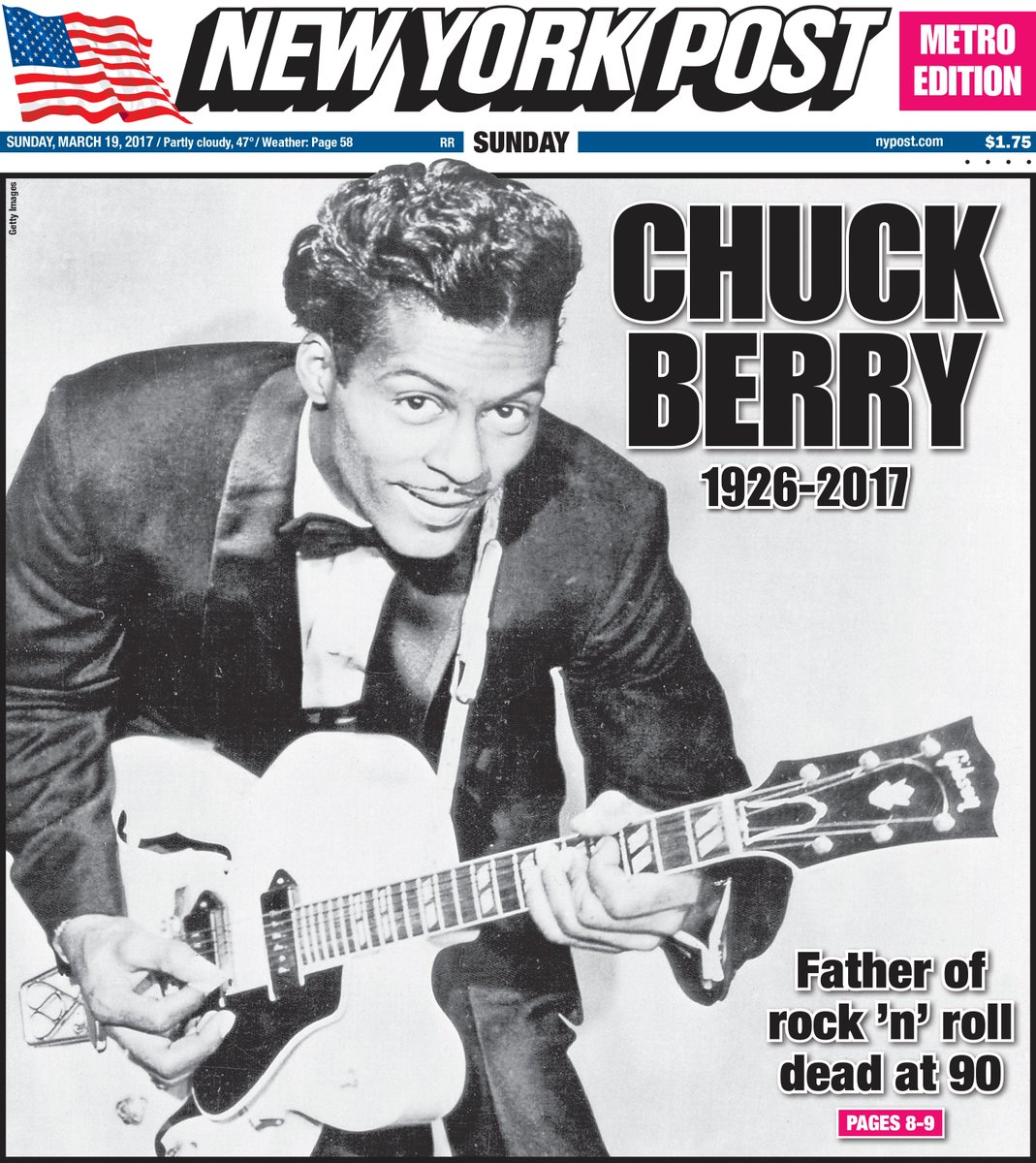 Tomorrow's Cover: Chuck Berry, Legendary 'father Of Rock
