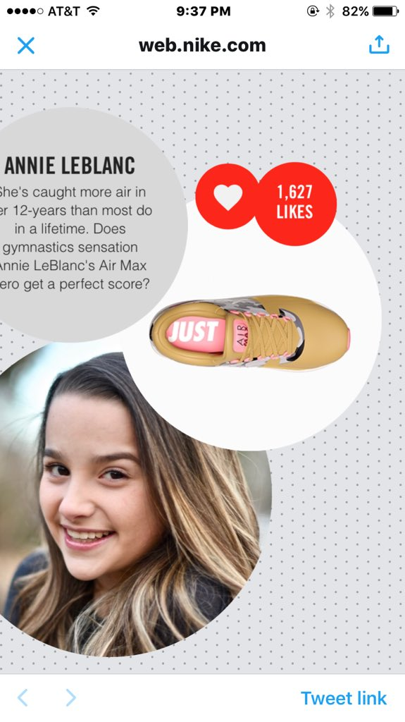 Annie Leblanc Nike Shoe Voting