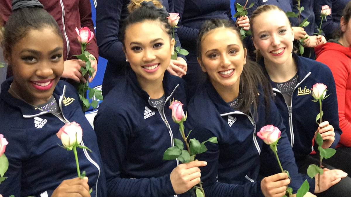 Seniors or contestants on the #Bachelor? #Pac12Gym https://t.co/vdyIux...