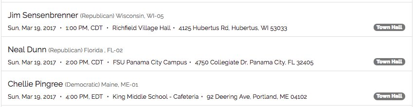 🔸 Town halls today, Sunday 3/19 🔸