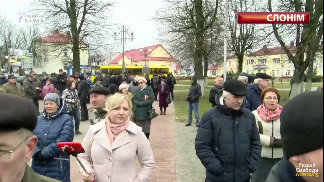 Todays rally in Slonim, Belarus