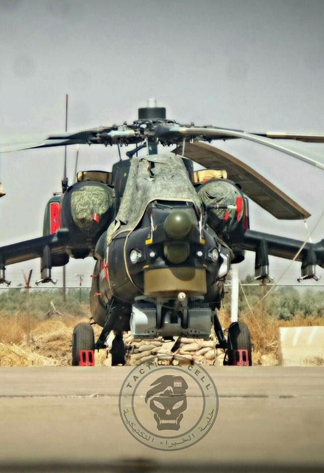 Mi-28UB combat helicopters belonging to Iraq's army aviation.