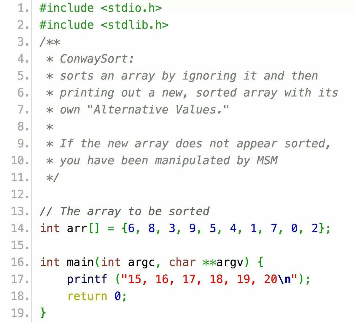 The best sorting algorithm in the world. It's true. https://t.co/DE6jbC4et2
