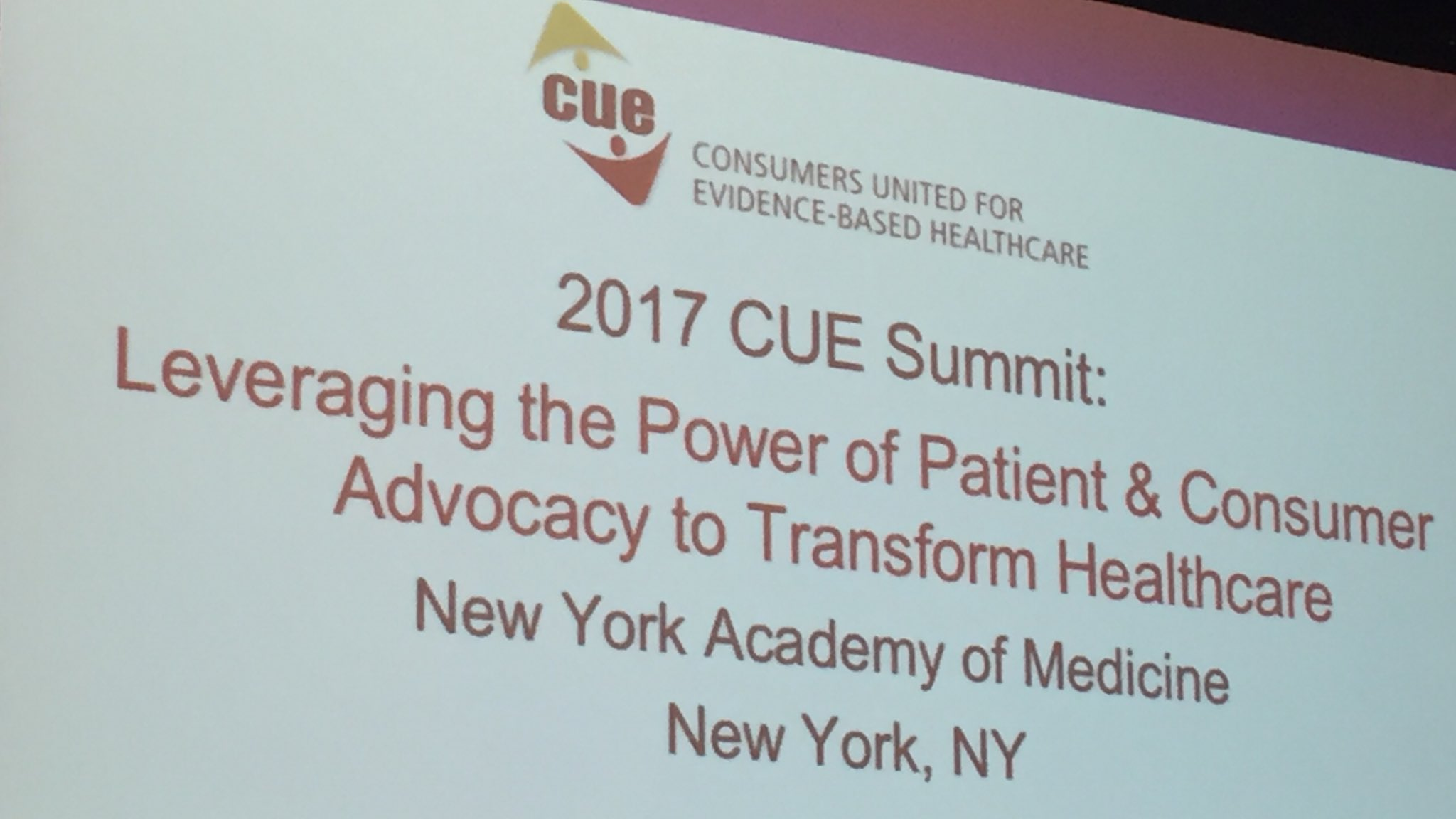 Getting up early on a Sunday morning is worth it to get to advocate for patients! #CUESummit17 https://t.co/Kv7WQahR2O