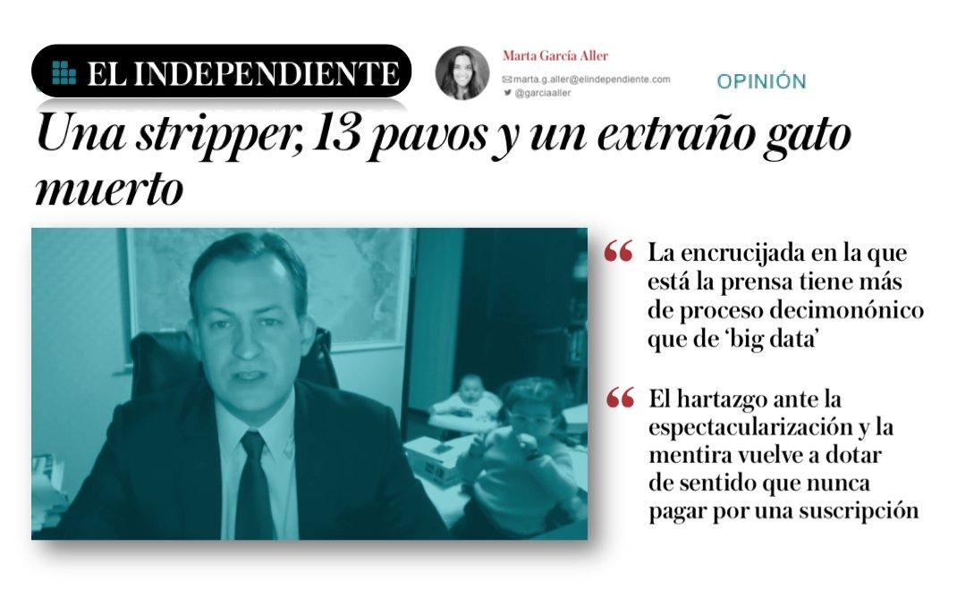 Si la prensa prefiere clics en Internet a rigor, ¿cómo espera que el lector confíe en ella? Irrefutable @GarciaAller https://t.co/aDsNHONHDj https://t.co/4uuT37pO0U