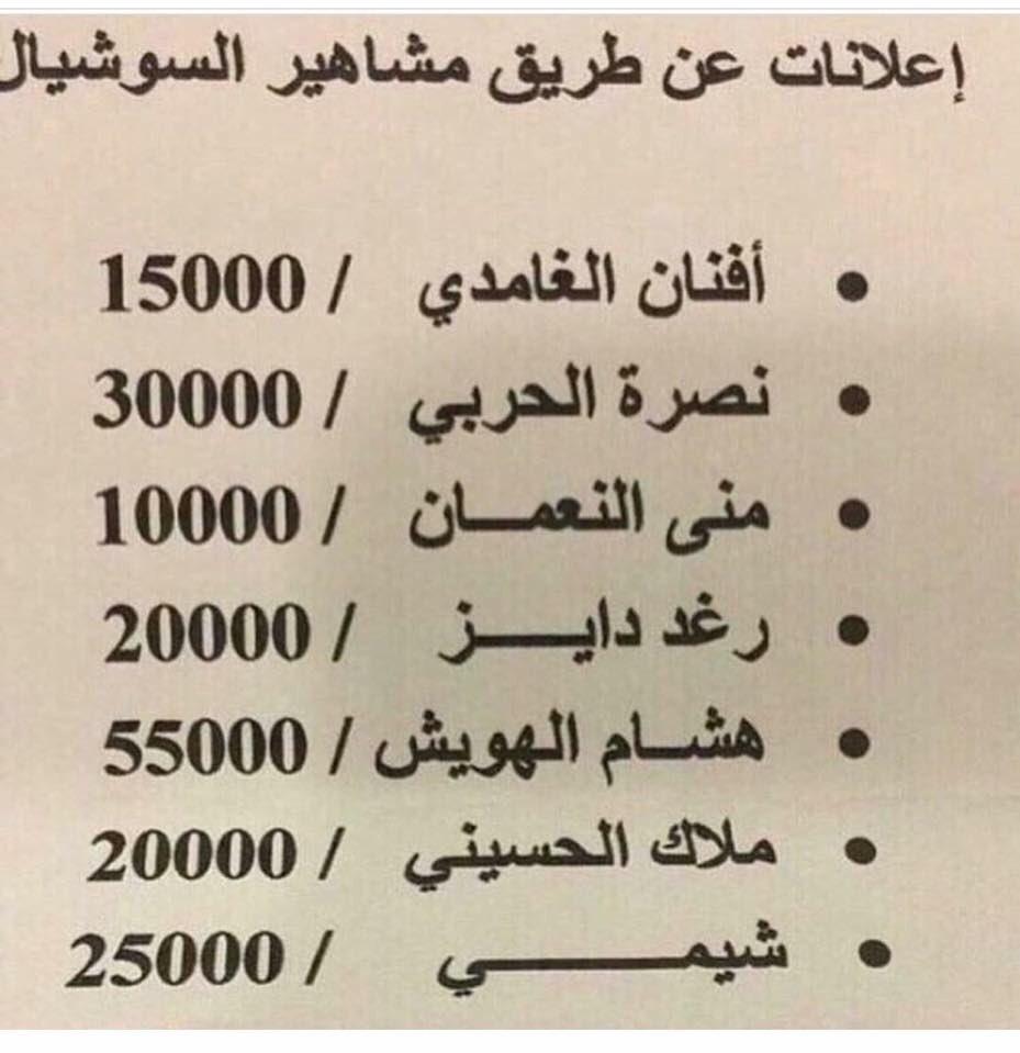 حاتم المسعودي Ar Twitter أسعار اعلانات المشاهير في السوشل ميديا تتجاوز كل التوقعات