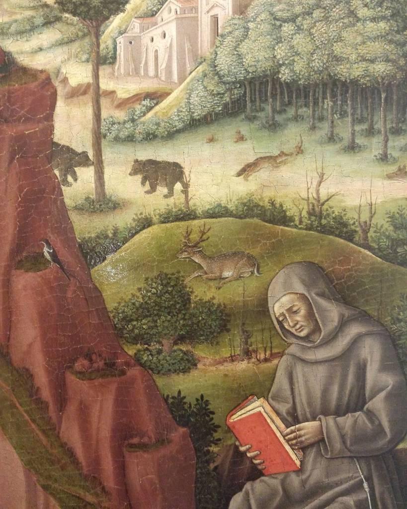 #antoniovivarini #twomonks $oil #painting #museolia #laspezia #landscape #animals #forest https://t.co/PeS8llSD61