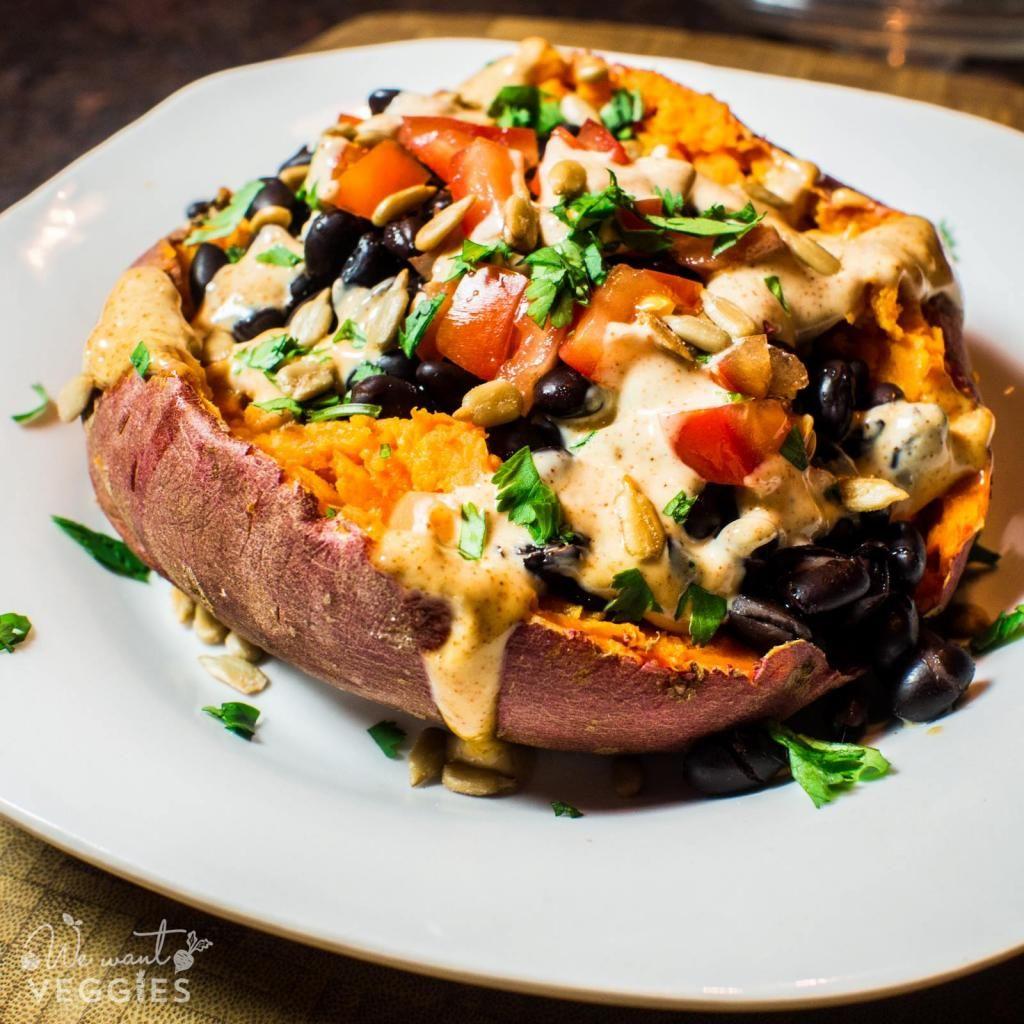 A #Recipe for Southwestern Stuffed Sweet Potatoes | via @wewantveggies...