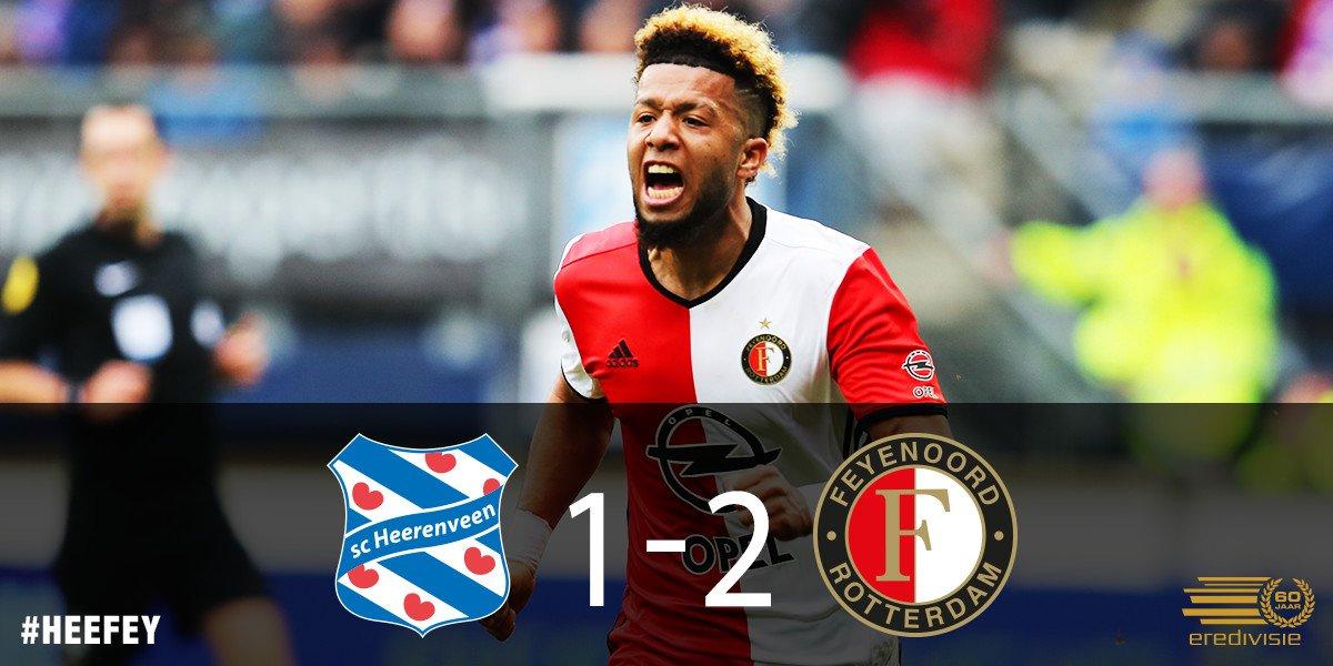 YES! Wát een veerkracht van onze mannen. De drie punten gaan mee naar Rotterdam! #heefey #Feyenoord