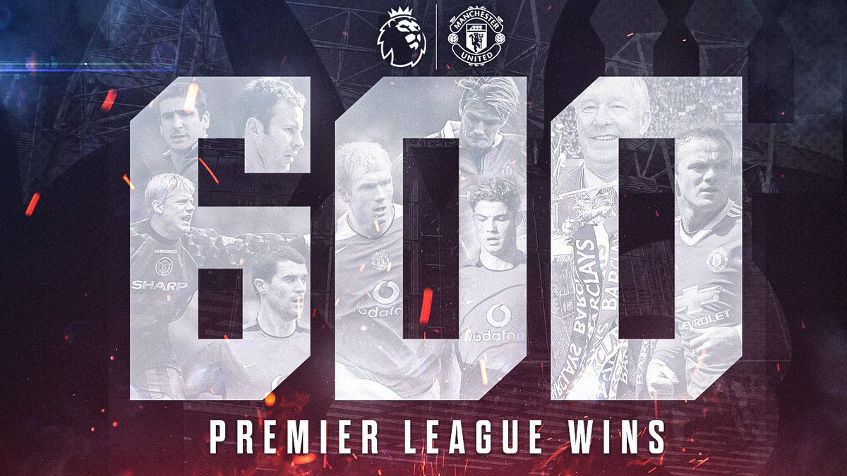 🎉 Congratulations to @ManUtd, who have made history by becoming the first side to record 600 #PL wins! #MIDMUN