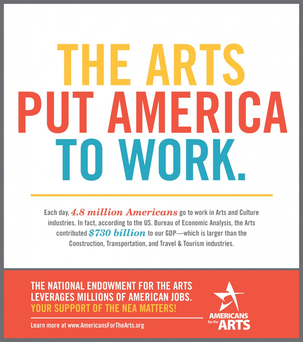 Each day, 4.8 million Americans go to work in Arts and Culture industries @Americans4Arts #artsadvocacy https://t.co/RNZGToqjCm