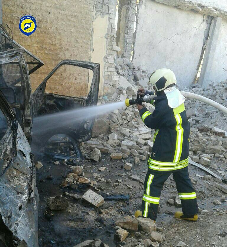 1 civilian killed, another wounded in airstrike on Kafr Naha, west to Aleppo