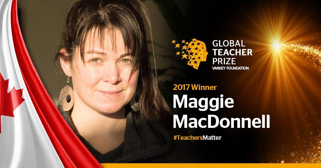 Congratulations to Maggie MacDonnell, the 2017 Global #TeacherPrize Winner #TeachersMatter #GESF https://t.co/gzRTv8sRsE