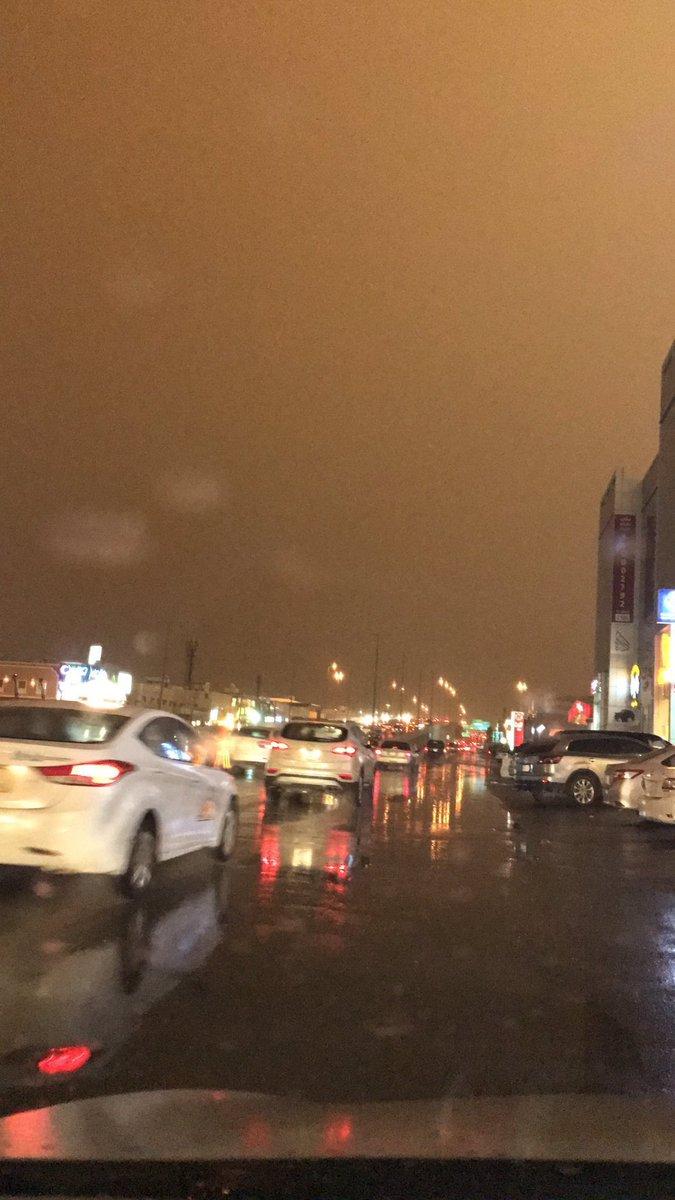#الرياض أظلمت بسبب السحب الركامية وموجة #الغبار المصاحبة  #عاصفه_مدار...