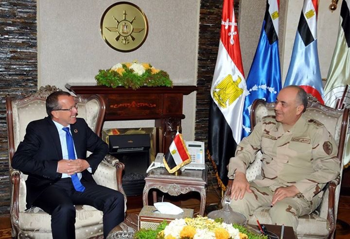 Today Lt. Gen. Hegazy met with @KoblerSRSG in Cairo - they discussed latest Egyptian efforts in Libya