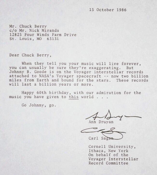 The Sagans' letter to Chuck Berry https://t.co/vWNo5Xy4y7