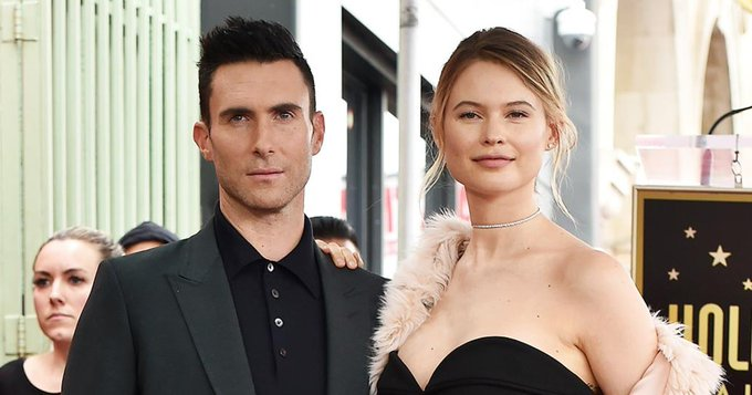 Behati Prinsloo had a sweet birthday message for Adam Levine: