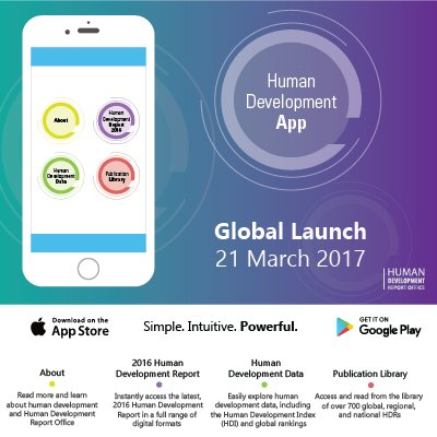 NEW #humandevelopment app for iOS/Android out 3/21. Country stats, rankings, current/past reports at your fingertips. https://t.co/Fj2HPGMfIr