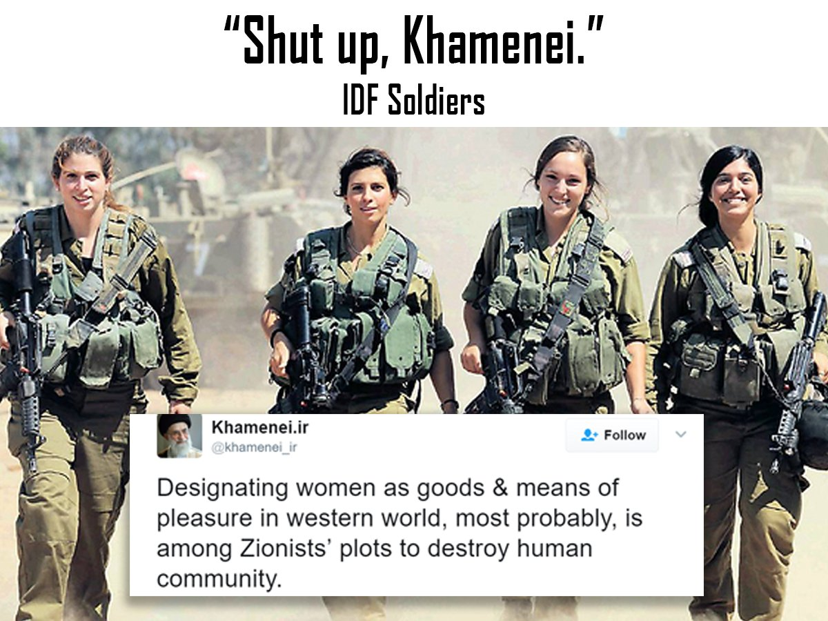 """Shut up, Khamenei."" IDF soldiers https://t.co/vY5cJXZx7r"
