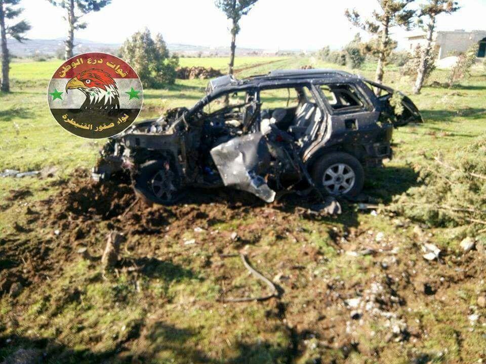 Syrian sources claim an Israeli airstrike target a car in Khan Arnabeh, near the Israeli border