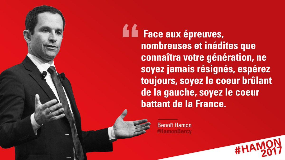 À la jeunesse de France, je veux dire : espérez ! #HamonBercy