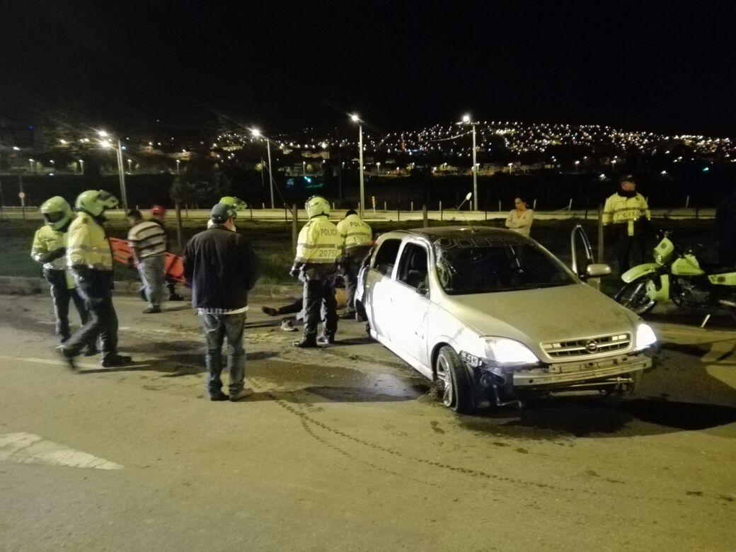 Un adolescente muerto dejó accidente de tránsito en Tunja