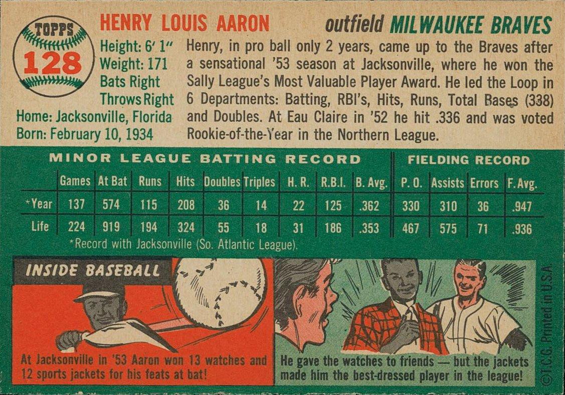 Baseball Card Facts على تويتر 1954 Topps 128 So Many Fun