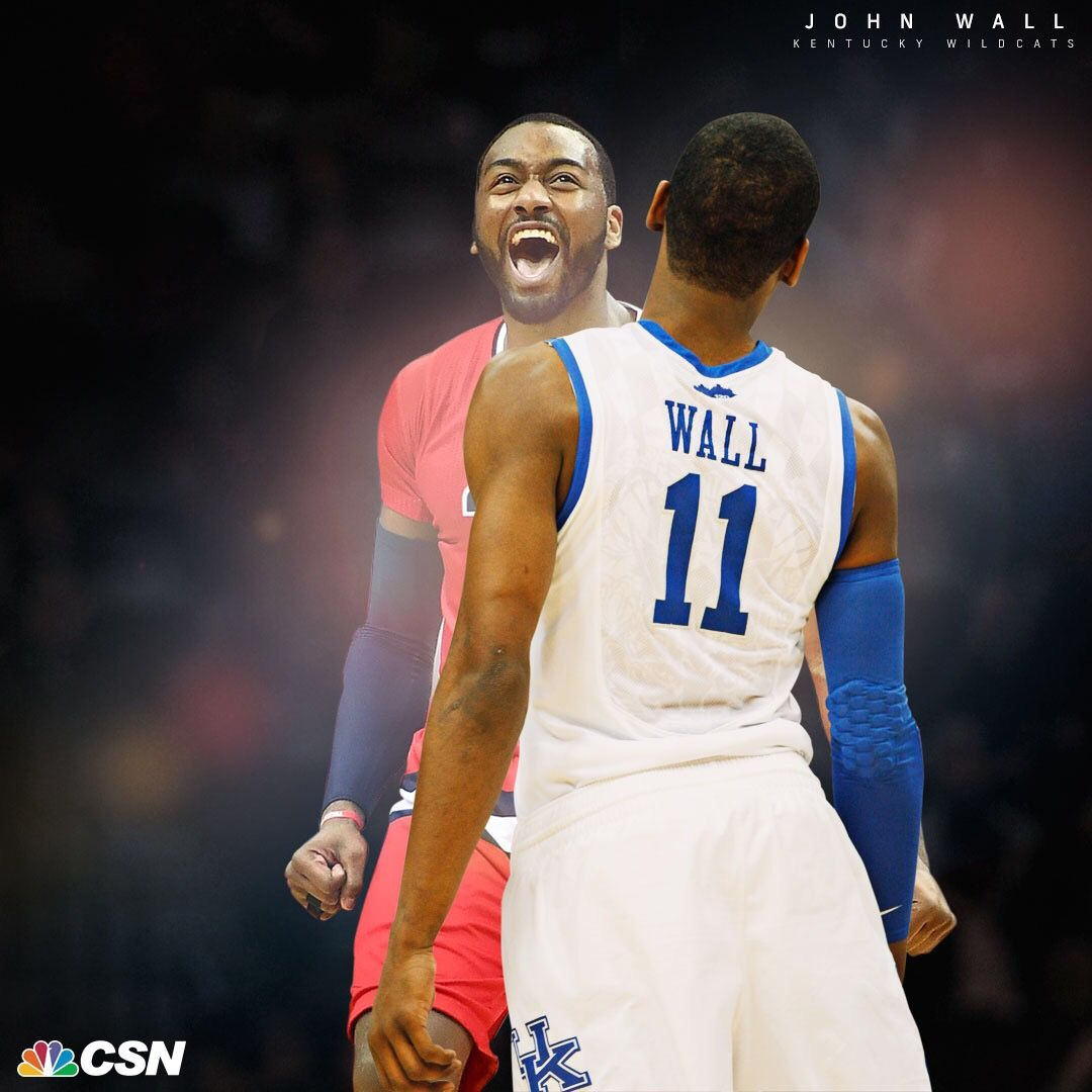 How sweet it is. #BBN  @JohnWall x March Madness