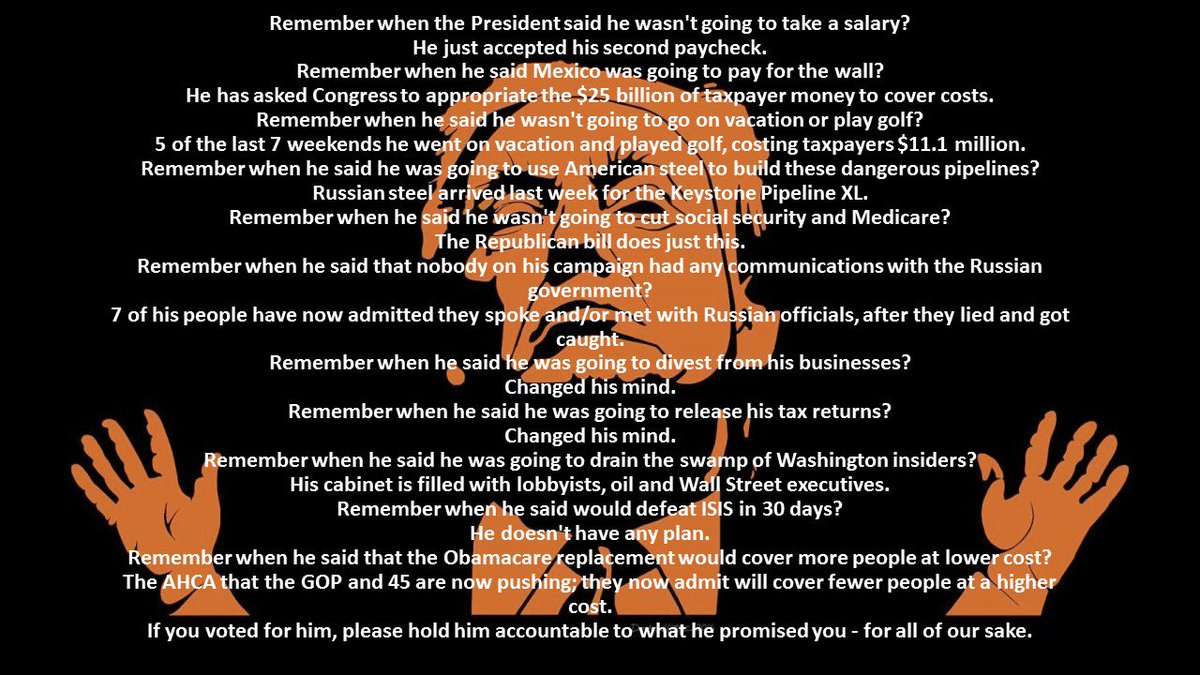 Remember all his lies Every day #DonTheCon cannot be trusted #thisisnotnormal #GrifterinChief #LiarinChief #PartyoverCountry #Impeach45<br>http://pic.twitter.com/rRgba5pnct