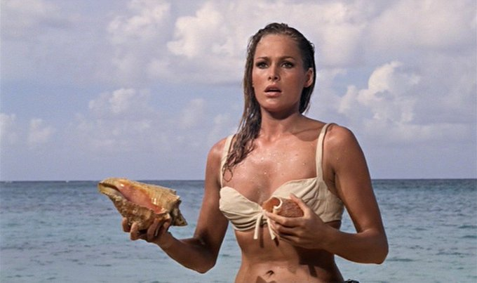 Happy 81st Birthday to Ursula Andress, perhaps THE Bond Girl of them all!