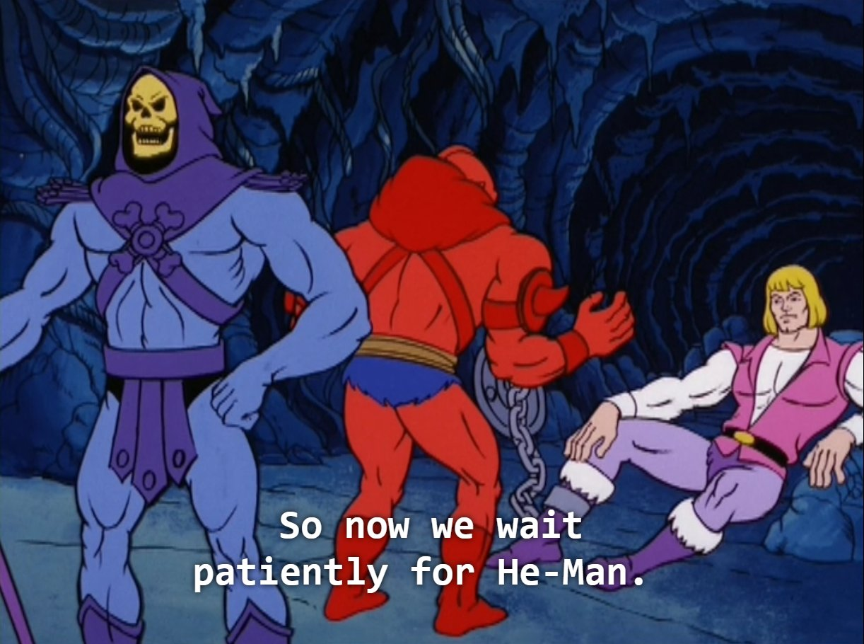 Beast Man is taken in by Adam's come hither look https://t.co/8VkvpjlCzh