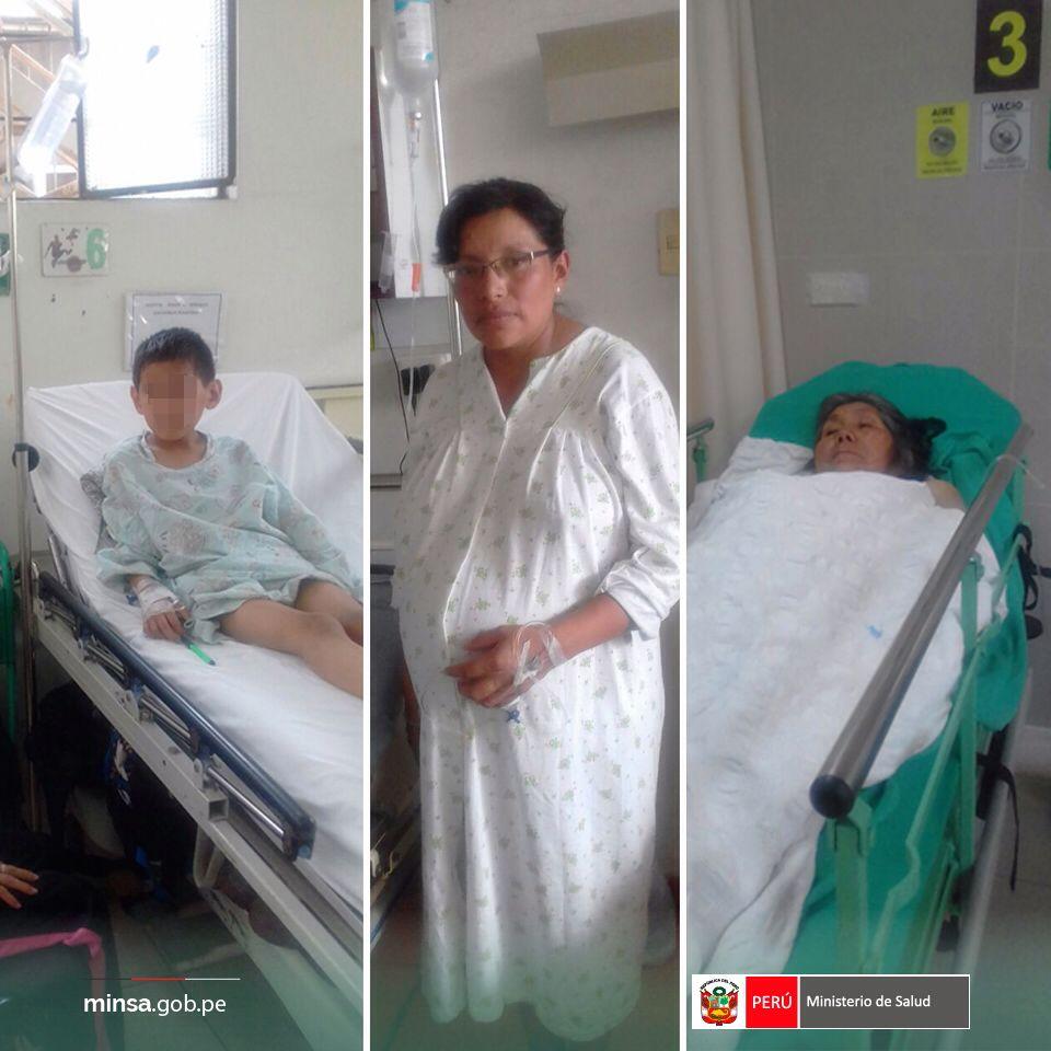 #UnaSolaFuerza Pacientes rescatados con helicóptero en #Canta ya son atendidos en Hosp.Bernales. Están estables y controlados #MinsaEnAcción<br>http://pic.twitter.com/AD3QW37i1z