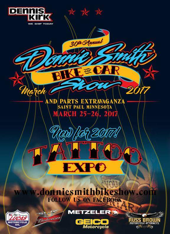 Donnie Smith Bike & Car Show, Parts, Tattoo Expo St Paul MN biker motorcycle event