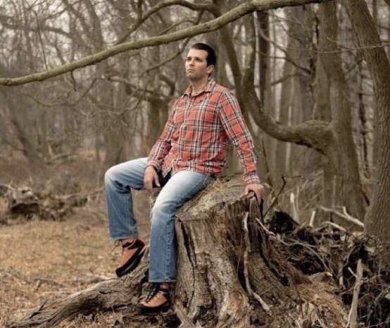 There goes Donald Trump, Jr., again, stumping for his father.