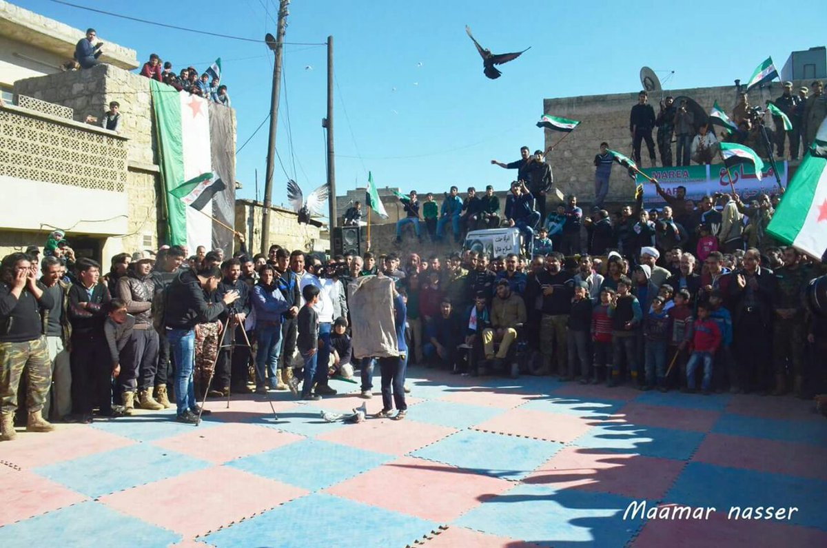 Todays demonstration in Marea city, North Aleppo