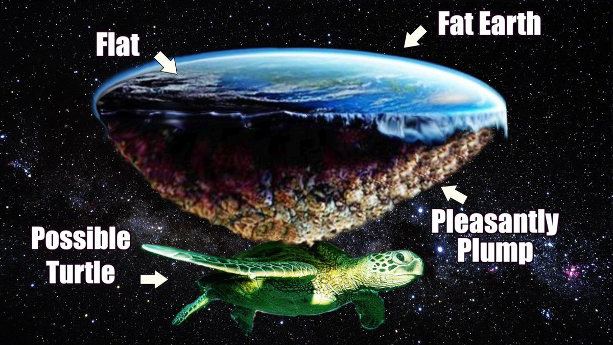Creationist Cat On Twitter Diagram Of My Fat Earth Model Flat Top Pleasantly Plump Da Bottom Try And Debunk Dat Neil DeGrasse Tyson