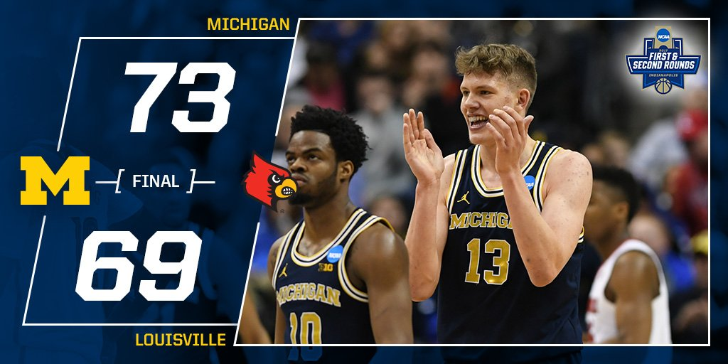 THIS WIN IS SWEET!!!!!   #GoBlue #MarchMadness #Sweet16 https://t.co/20R8JNj9BR