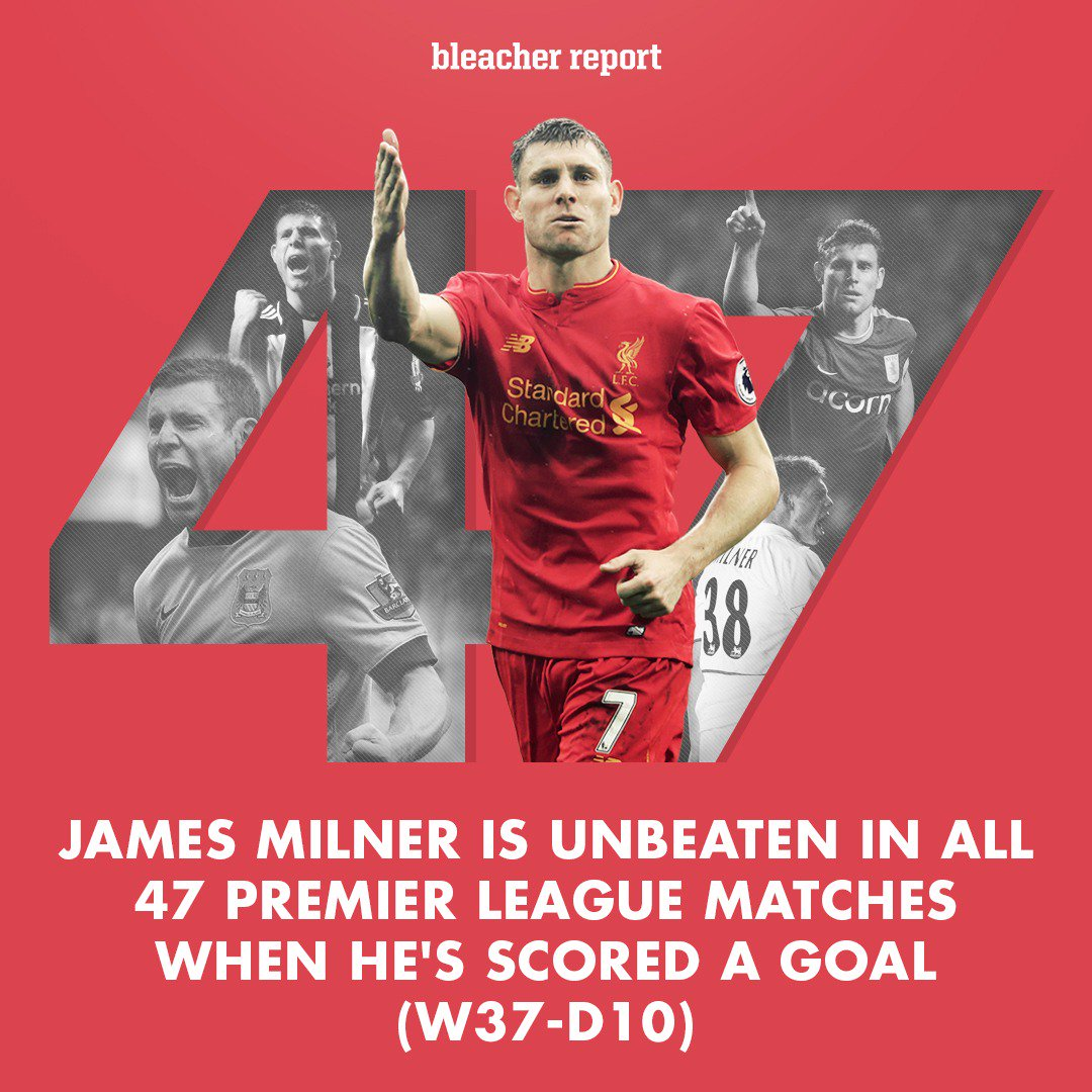 When James Milner scores, he doesn't lose. https://t.co/KHQ5UusqhS