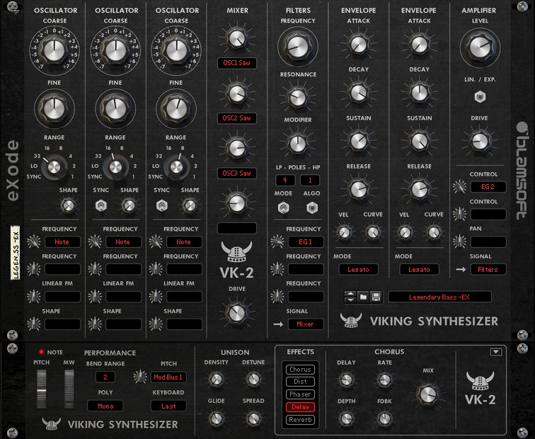 Exclusive first look at Blamsoft and eXode's VK-2 synth Rack