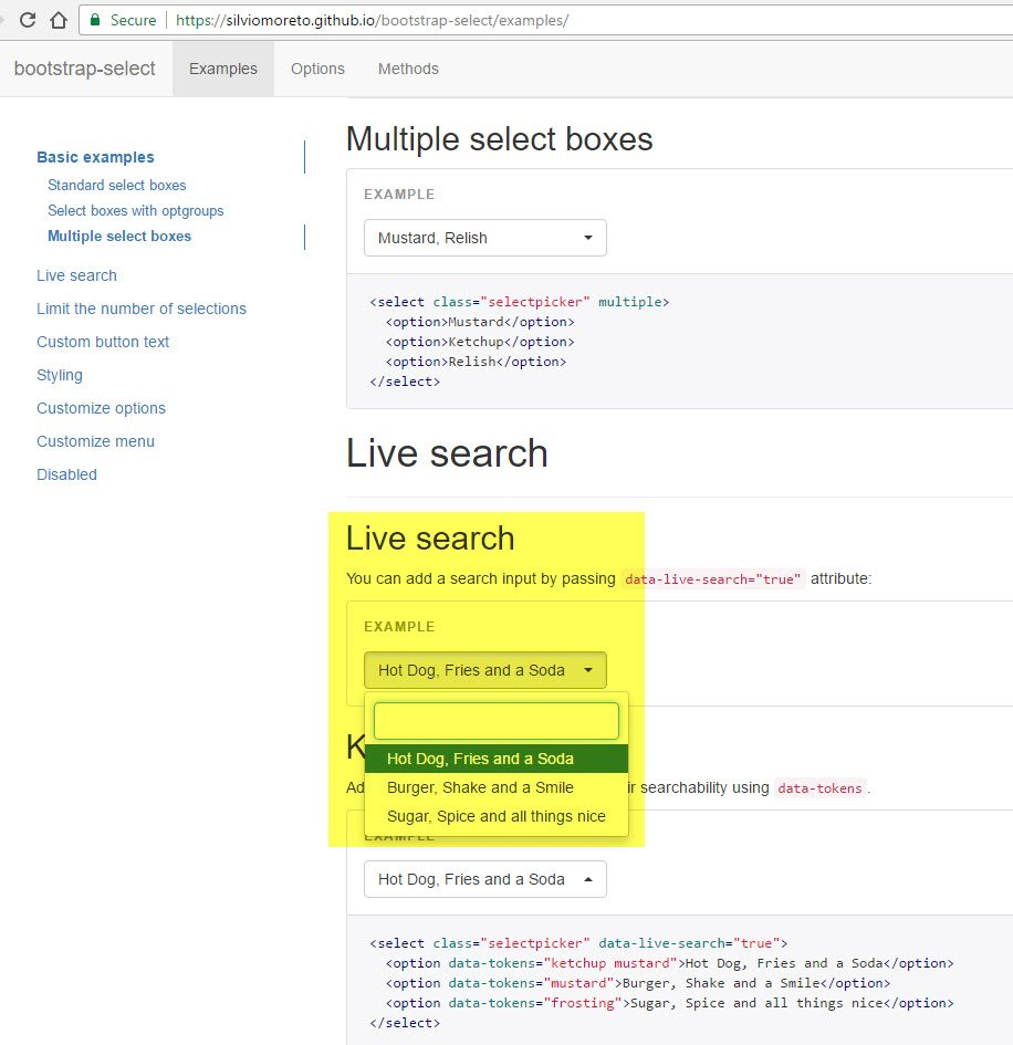 bootstrap select search