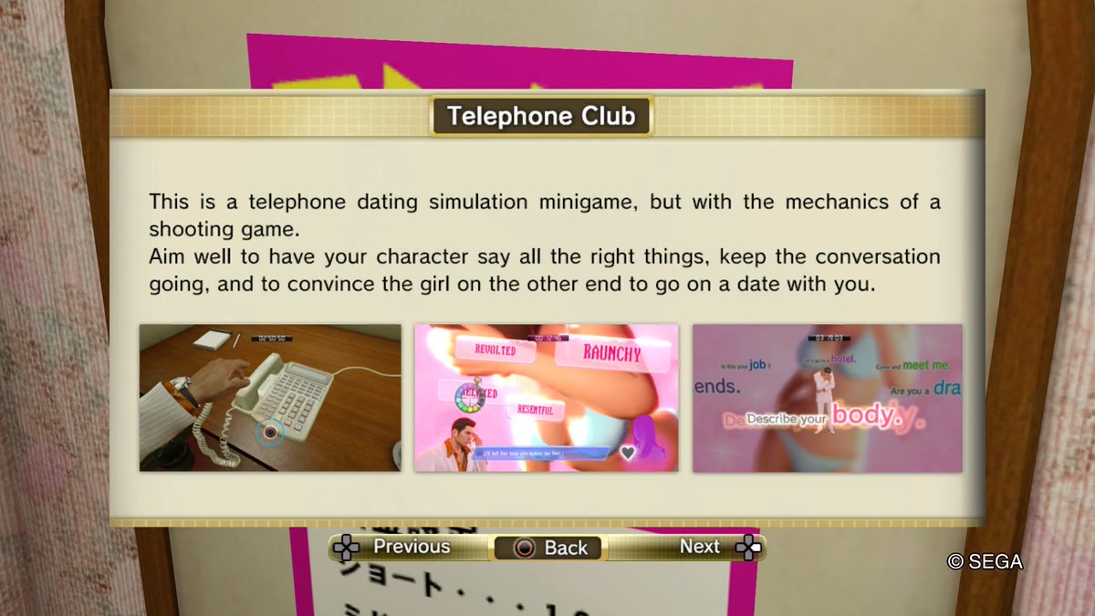 Telephone dating service