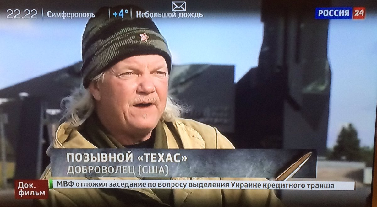 Russian state propagandists again using term Novorosiya. Aired a film on foreign fighters in Ukraine