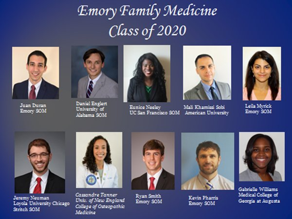 So excited about our Emory Family Medicine Class of 2020! Fresh results from #MatchDay #EmoryMatchDay @EmoryMedicine https://t.co/vV3iFRMQ89