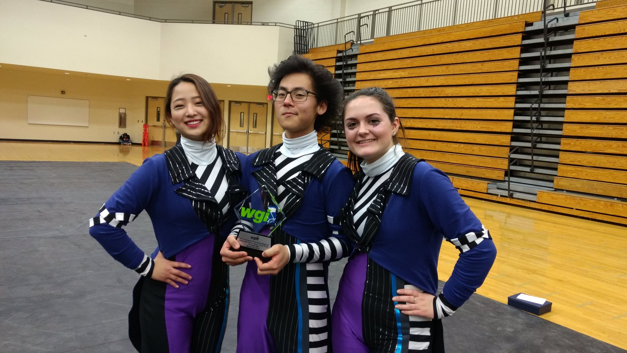 Senior Captains picking up the hardware at #wgiportland https://t.co/B5A43LLzAn