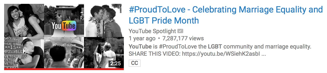 so youtube even blocks it's own #proudtolove video for marriage equality in restricted mode. UM WAIT I'M SORRY WHAT. https://t.co/tQt19W5Gdq